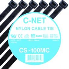 """เคเบิ้ลไทร์ 4"""" (2.5 x 100 มม.) สีดำ (C-NET Cable Tie)"""