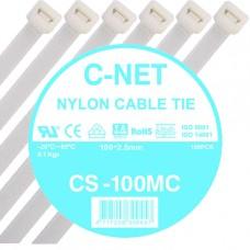 """เคเบิ้ลไทร์ 4"""" (2.5 x 100 มม.) สีขาว (C-NET Cable Tie)"""