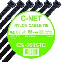 """เคเบิ้ลไทร์ 12"""" (4.8 x 300 มม.) สีดำ (C-NET Cable Tie)"""