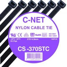 """เคเบิ้ลไทร์ 15"""" (4.8 x 370 มม.) สีดำ (C-NET Cable Tie)"""