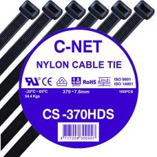 """เคเบิ้ลไทร์ 15"""" (7.6 x 370 มม.) สีดำ (C-NET Cable Tie)"""
