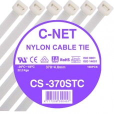 """เคเบิ้ลไทร์ 15"""" (4.8 x 370 มม.) สีขาว (C-NET Cable Tie)"""