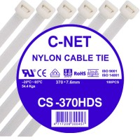 """เคเบิ้ลไทร์ 15"""" (7.6 x 370 มม.) สีขาว (C-NET Cable Tie)"""